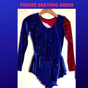 Girls Figure Skating Dress: Stars and Stripes
